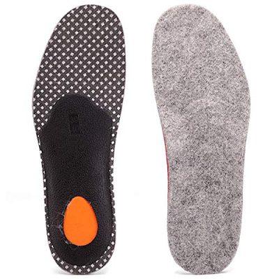 Smilefoot あったか インソール 極厚 土踏まず 足底筋膜炎 衝撃吸収 中敷き 羊毛